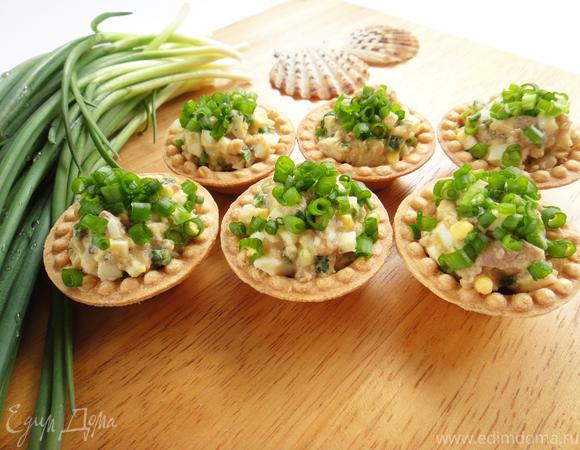 Салат-закуска из печени трески