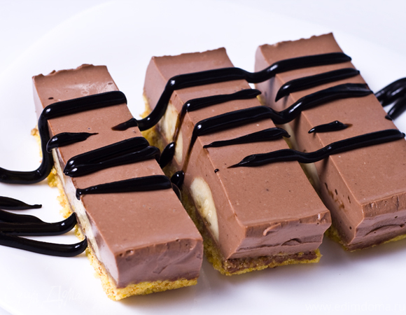 Шоколадно-банановые пирожные