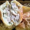 Пирожки с начинкой из курицы и зеленого лука в сливочном соусе