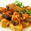Куриное жаркое с баклажанами и картофелем
