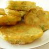 Оладушки с зеленью (тесто без яиц)