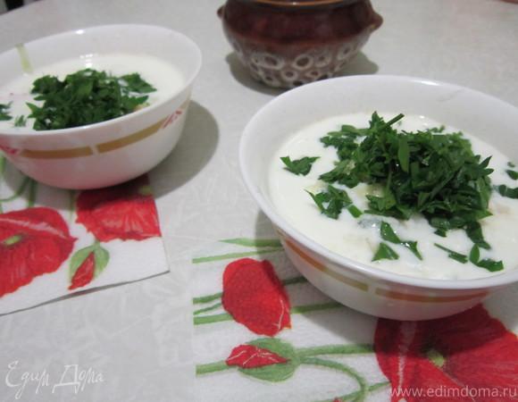 Холодный суп с огурцами