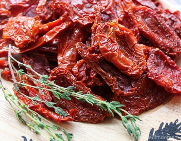 Вяленые томаты и томатный соус с печеными овощами из остатков (безотходное производство)