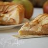 Яблочный тарт с творожным кремом