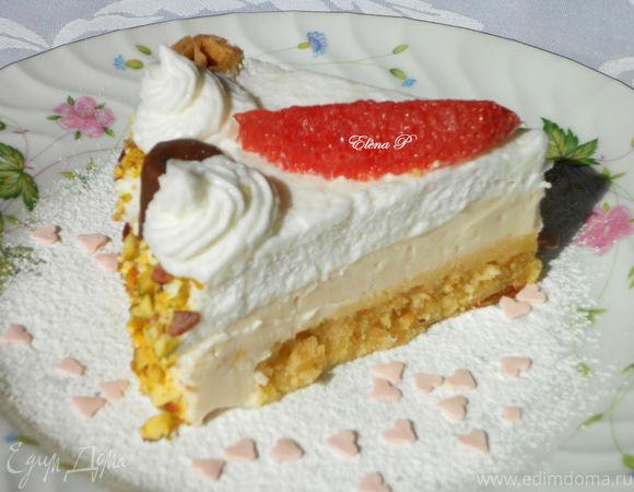 Творожно-грейпфрутовый торт