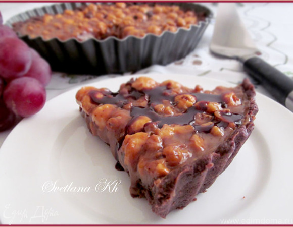 Шоколадный, карамельно-ореховый пирог. Готовим с HOMEQUEEN