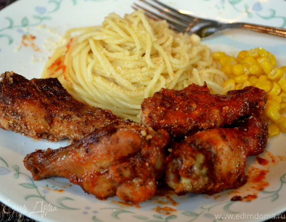 Куриные крылышки с итальянским соусом