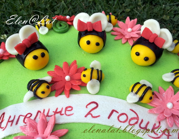 """Торт """"Пчелки"""" + МК по украшению"""