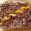Пирог с абрикосами и взбитыми сливками