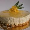 Чизкейк ванильно-ананасовый