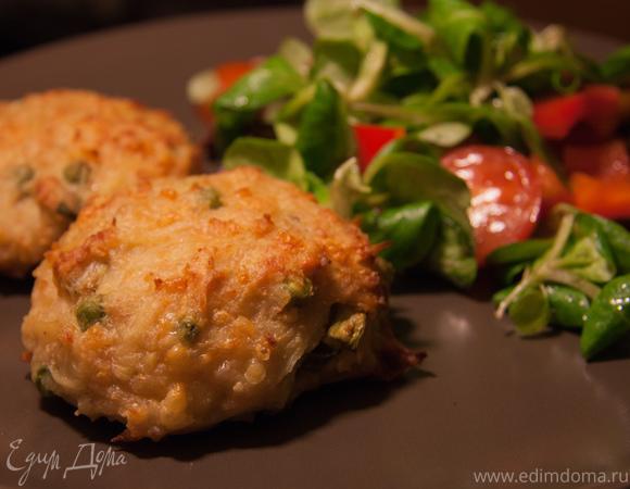 Куриные котлетки с картофелем и сыром