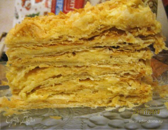Рецепт торта Наполеон классический с пошаговыми фото и видео