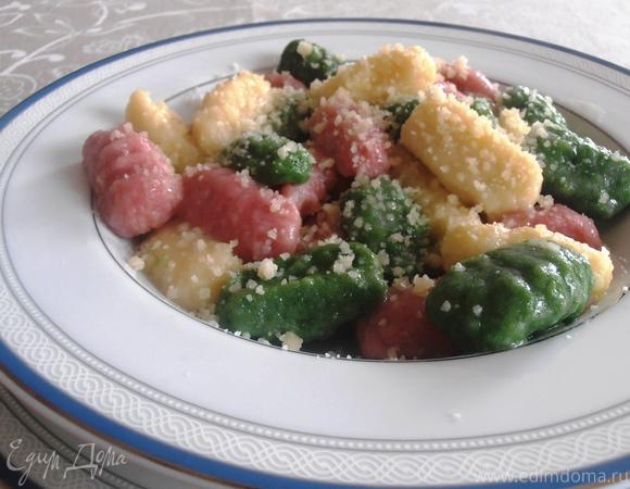 Итальянские трехцветные ньокки (картофельные клецки)
