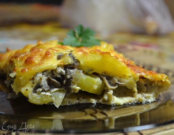 Запеканка с картофелем и лесными грибами