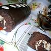 Быстрый шоколадно-творожный рулет (выпекается вместе с начинкой)