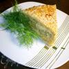 Сырно-луковый пирог с брокколи и цветной капустой
