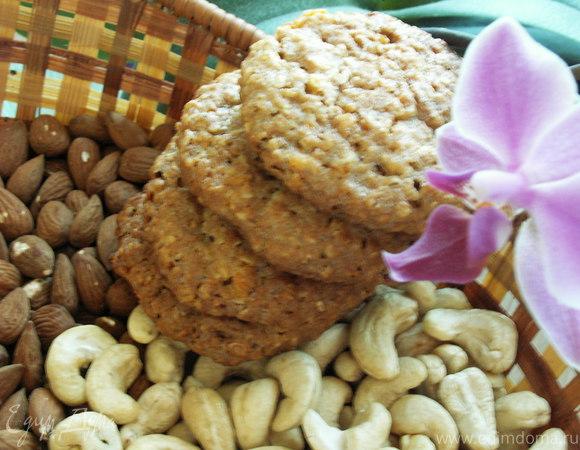овсяное печенье с курагой и белым шоколадом