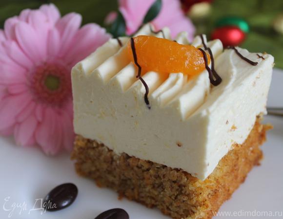 Пирог морковно-мандариновый