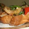 Брускетта с запеченными овощами