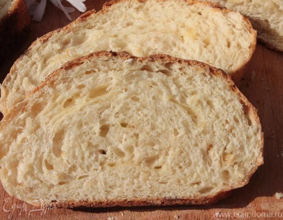 Горчичный хлеб на твороге с сыром