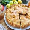 Осенний яблочный пирог с домашней карамелью