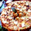 Сырно-тыквенные лепешки с колбасой и зеленью