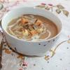Крем-суп из шампиньонов с белыми грибами и сыром Джюгас