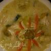 суп с сыром, капустой брокколи ,курицей