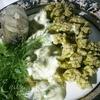 Цветная капуста под сырно-чесночным соусом