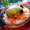 Лягушка из яблока - талисман на удачу