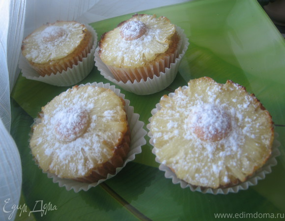 Бисквитно-миндально-ананасовые кексы