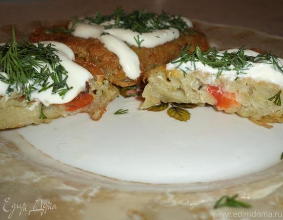 Картофельные оладьи со сладким перцем