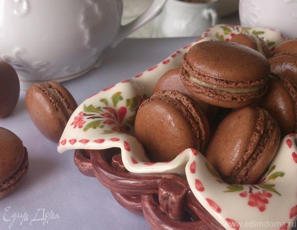 """Печенье """"Макарон"""" с карамельно-шоколадным кремом"""