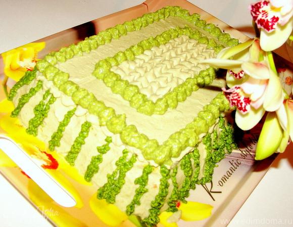 """Закусочный торт """"Зеленый тирамису"""""""