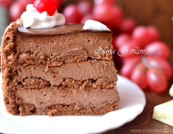 Шоколадный тирамису с вишневым ликером