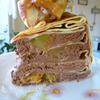 Блинчатый пирог с апельсинами