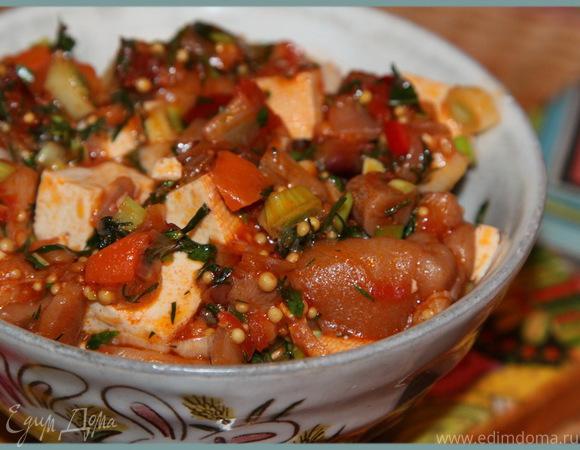 Овощное рагу с тофу (постное меню)