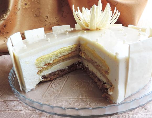 """Ангельский торт """"V8"""" (упрощенный вариант)"""