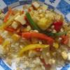 Кус-кус с паниром, овощами wok и ростками маша