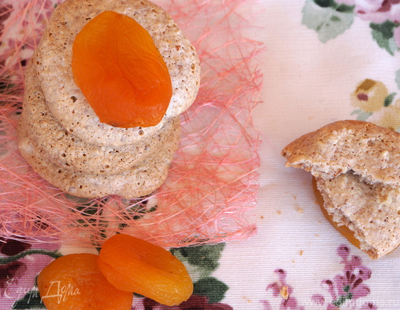 Миндальное печенье с курагой