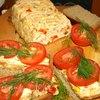 Миндально-куриный хлеб с овощами