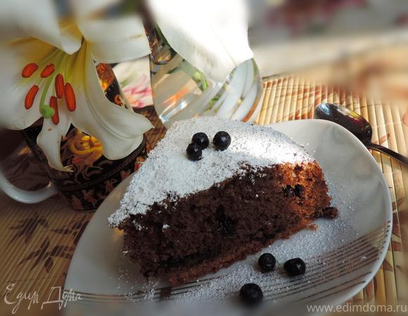 Кофейный пирог с черникой