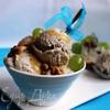 Грушевое мороженое с голубым сыром и грецкими орехами