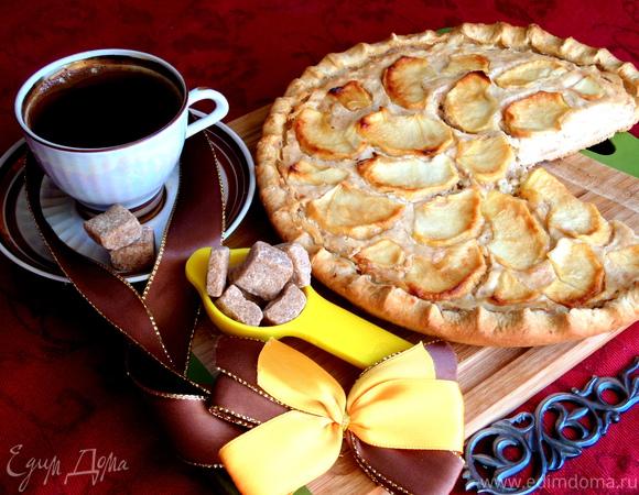 """Пирог-галета """"Яблоки на сливочном сыре"""""""