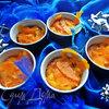Манный пудинг,политый апельсиновым сиропом