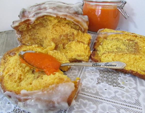 Постный отрывной тыквенный хлеб с корицей