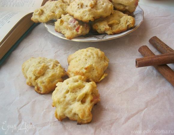 Карамельно-яблочное печенье