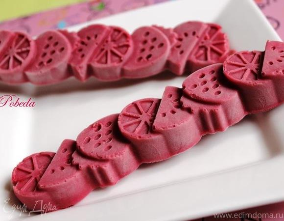 Зефирно-ягодное мороженое