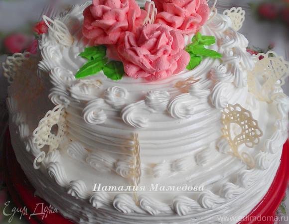 """Двухъярусный торт """"Юбилейный"""""""