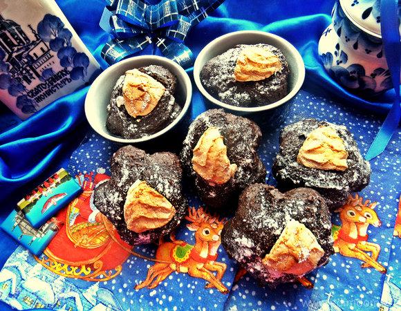 Кексы шоколадные на гречневой муке